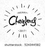 hipster christmas retro label.... | Shutterstock . vector #524344582