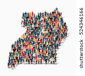 people map country uganda vector | Shutterstock .eps vector #524346166
