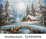 texture oil painting ... | Shutterstock . vector #524346946