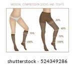 vector medical compression... | Shutterstock .eps vector #524349286