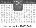 christmas  new year holidays... | Shutterstock .eps vector #524355406