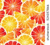 citrus slices seamless | Shutterstock .eps vector #524357866