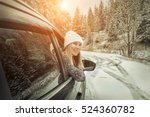 woman at winter time. yoyng... | Shutterstock . vector #524360782