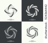 set abstract background with... | Shutterstock .eps vector #524364442