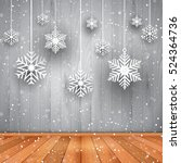 christmas background with... | Shutterstock .eps vector #524364736