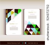 abstract geometric business... | Shutterstock .eps vector #524372752