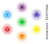 chakras icons . concept of...   Shutterstock .eps vector #524373466