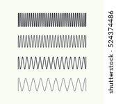 set coil spring vector icon....   Shutterstock .eps vector #524374486