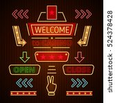 retro casino icons  pointers ... | Shutterstock .eps vector #524378428