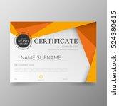 certificate template awards... | Shutterstock .eps vector #524380615
