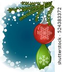 abstract christmas background... | Shutterstock .eps vector #524383372