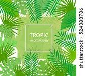 tropical leaves. floral design... | Shutterstock .eps vector #524383786