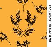 seamless vector pattern  black... | Shutterstock .eps vector #524384035