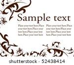 flowers decorative ornament... | Shutterstock .eps vector #52438414