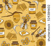 collection of bees and... | Shutterstock .eps vector #524384602