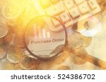 magnifier finding purchase ...   Shutterstock . vector #524386702