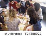 creative brainstorming meeting... | Shutterstock . vector #524388022