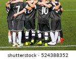 young boys sports team on... | Shutterstock . vector #524388352