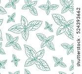 mint leaves  peppermint...   Shutterstock .eps vector #524393662