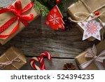 christmas presents in... | Shutterstock . vector #524394235