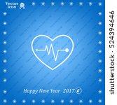 cardiogram icon vector | Shutterstock .eps vector #524394646