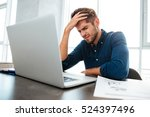 picture of confused young man... | Shutterstock . vector #524397496