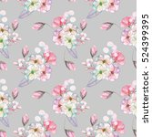 seamless pattern with isolated... | Shutterstock . vector #524399395