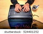 computer virus. a man is...   Shutterstock . vector #524401252