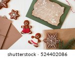 christmas composition. xmas... | Shutterstock . vector #524402086