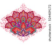 indian ethnic ornament. hand... | Shutterstock .eps vector #524409172