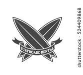 surfboard rental logo design.... | Shutterstock .eps vector #524409868