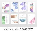 geometric background template...   Shutterstock .eps vector #524412178