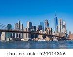 brooklyn bridge and cityscape... | Shutterstock . vector #524414356