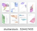 geometric background template... | Shutterstock .eps vector #524417455