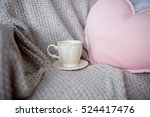 beautiful cup and heart shaped... | Shutterstock . vector #524417476