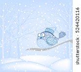 Snow Bird Sitting On A Tree...