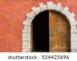 double door with one side opened | Shutterstock . vector #524425696
