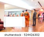man use mobile phone  blur... | Shutterstock . vector #524426302