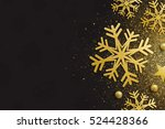 elegant merry christmas and... | Shutterstock . vector #524428366