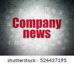 news concept  painted red text... | Shutterstock . vector #524437195