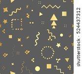 trendy geometric elements card. ... | Shutterstock .eps vector #524437312