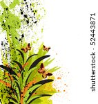 vector floral background   Shutterstock .eps vector #52443871
