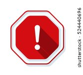 exclamation danger sign | Shutterstock .eps vector #524440696