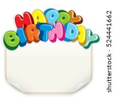 birthday card template vector.... | Shutterstock .eps vector #524441662