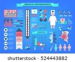 vector set of medical... | Shutterstock .eps vector #524443882