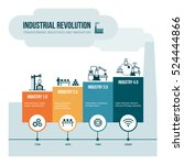 industrial revolution stages... | Shutterstock .eps vector #524444866