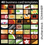 40 colorful business cards | Shutterstock .eps vector #52444489
