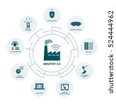 industry 4.0 concepts  security ... | Shutterstock .eps vector #524444962