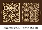 laser cutting set. woodcut... | Shutterstock .eps vector #524445148