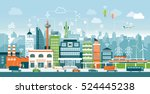 smart city with contemporary... | Shutterstock .eps vector #524445238